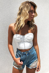 PINACLE CROP - WHITE