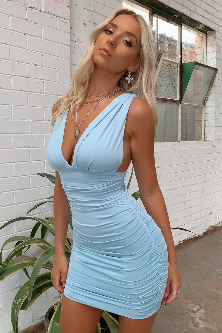 Trixie Dress - Baby Blue