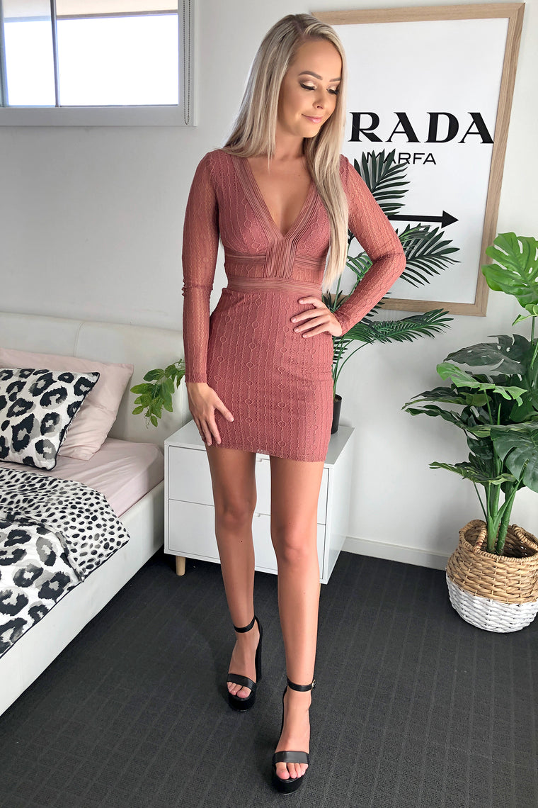 Valerie Dress - Dusty Pink