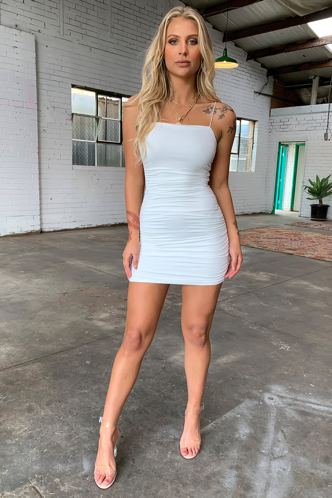 CARRINGTON DRESS - WHITE