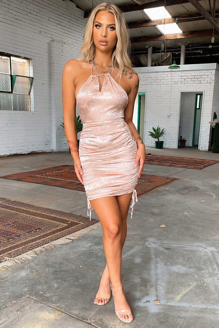 Bustle Dress - Champagne