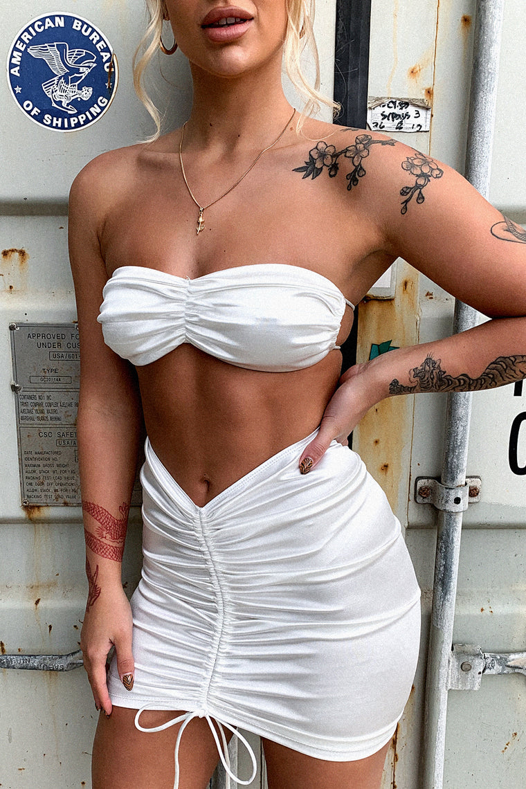 Alannah Crop - White
