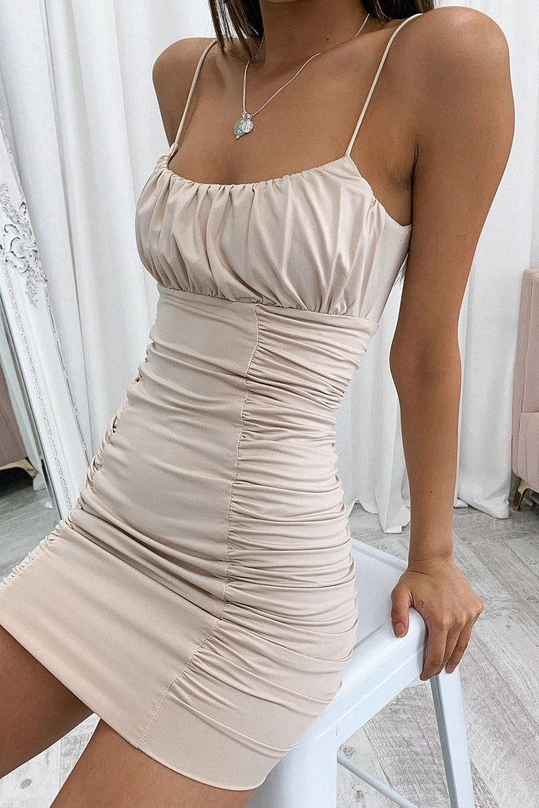 Alexandra Dress - Beige