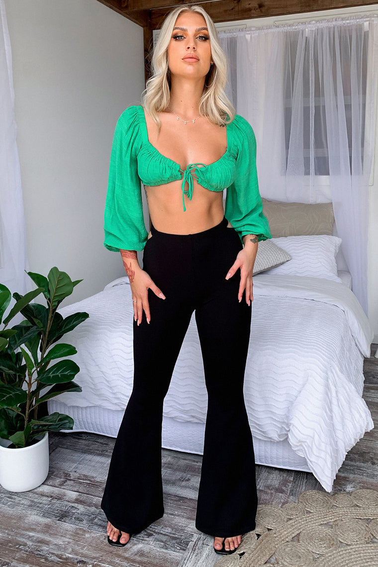 Alicia Crop - Green
