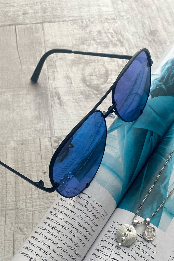 Aviator Sunglasses - Blue