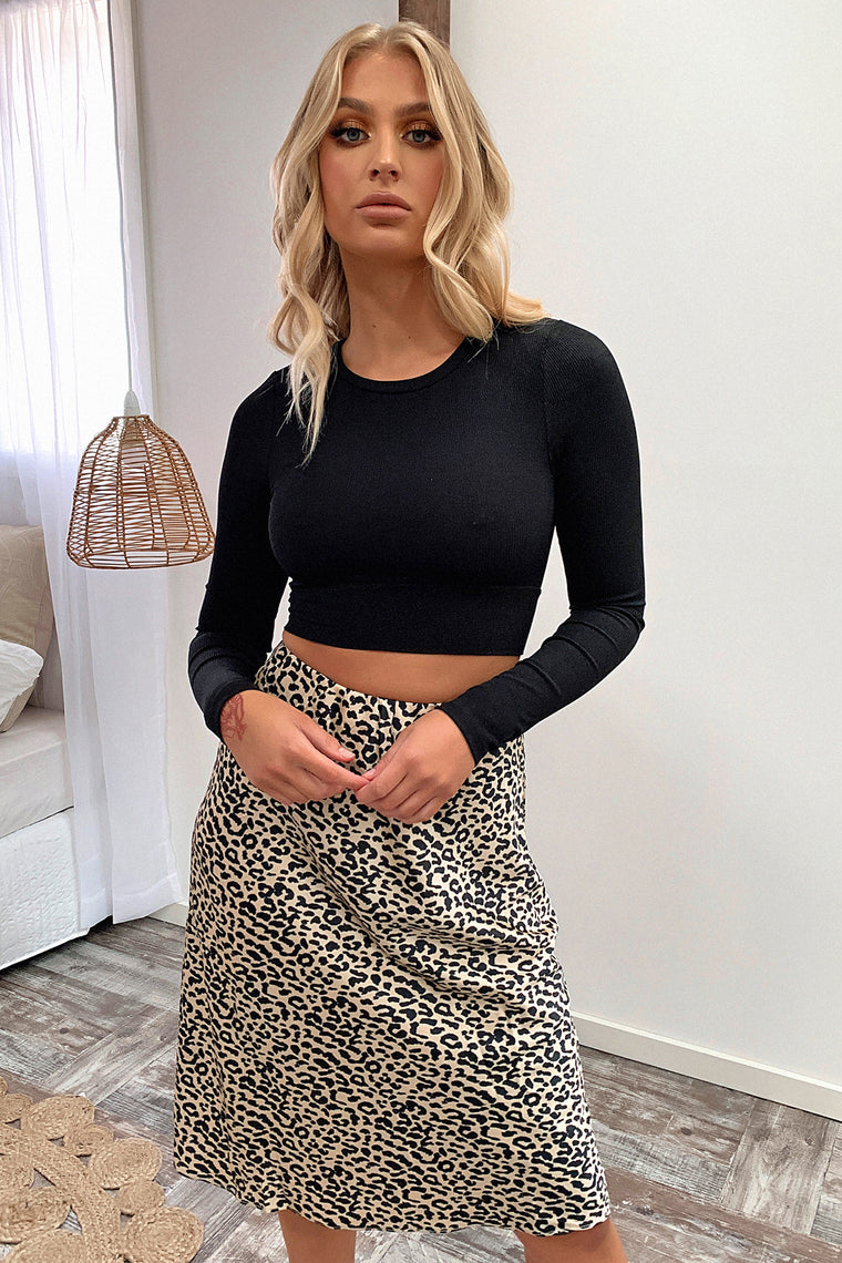 Narleen Long Sleeve Crop - Black