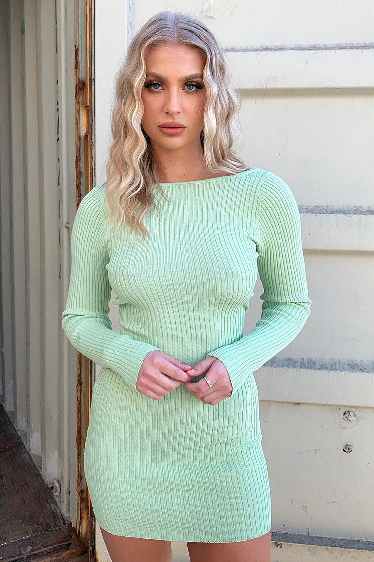 Sidoney Long Sleeve Knit - Green