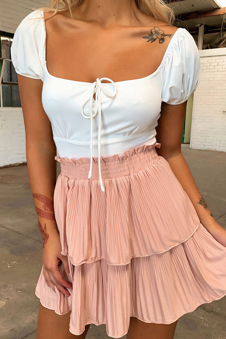 Mindy Skirt - Blush