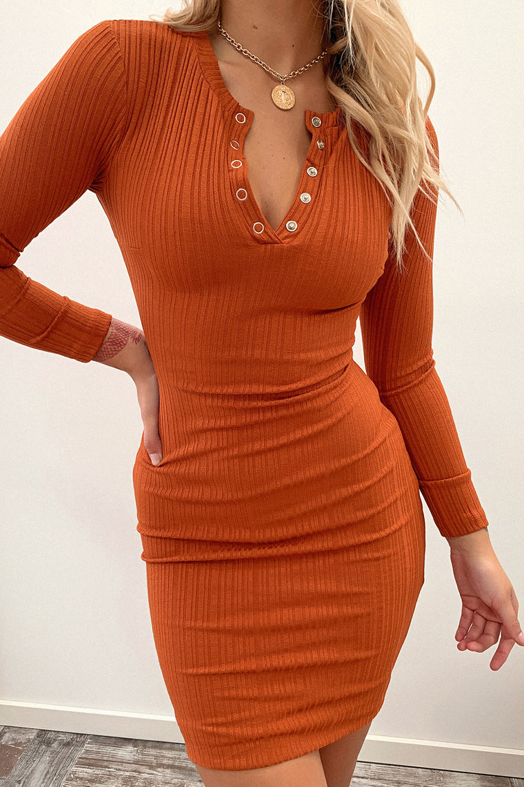 Keyla Dress - Burnt Orange
