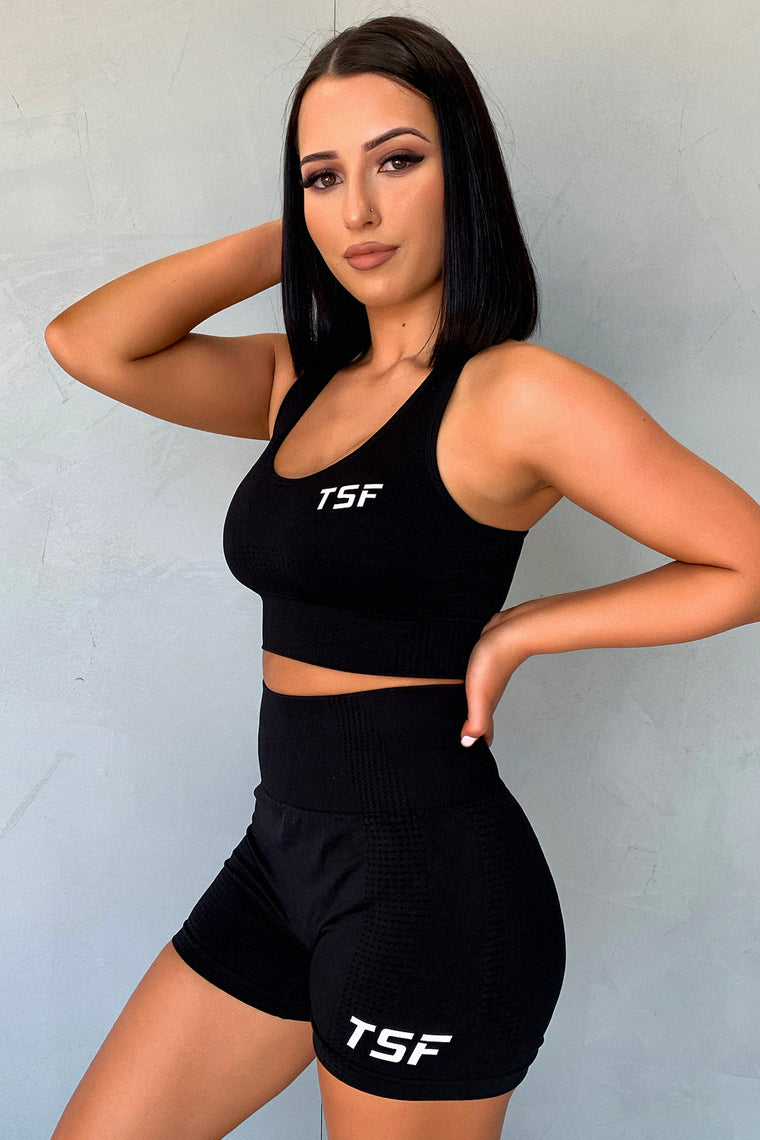 TSF Fox Sports Bra - Black