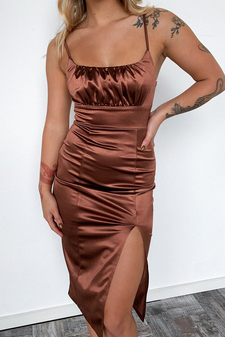 Francise Dress - Brown