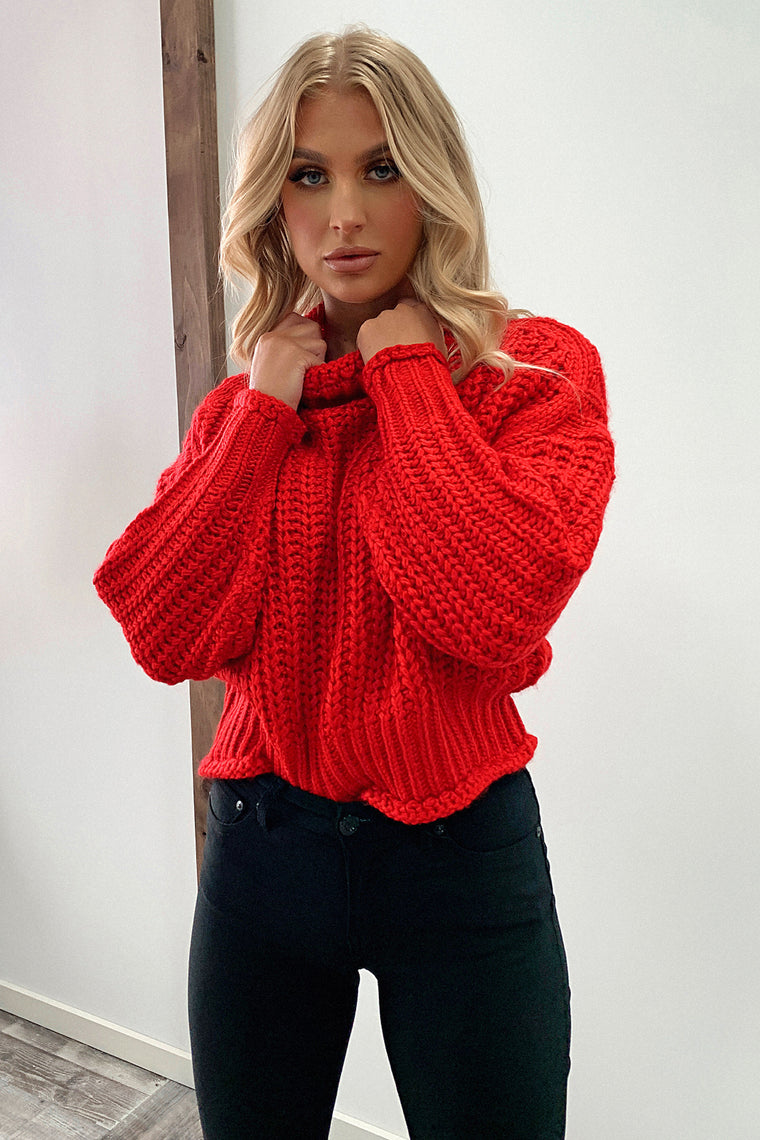 Pala Knitted Jumper - Red