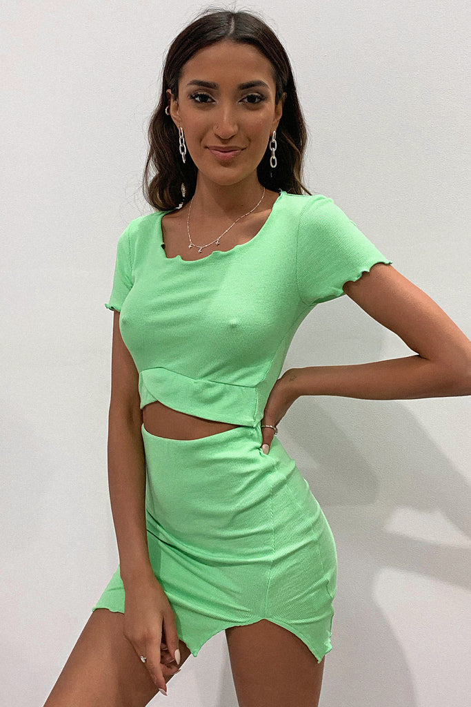 Alayna Crop - Lime Green