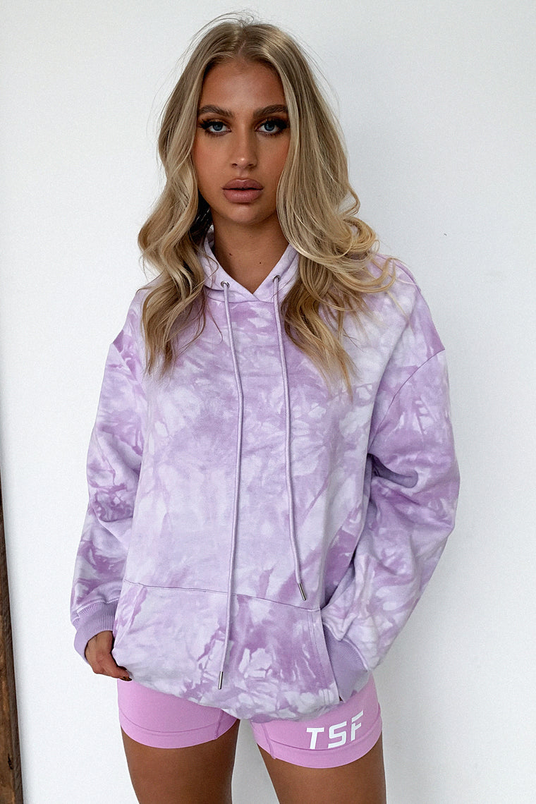 Kamakazi Sweater - Purple Tie Dye