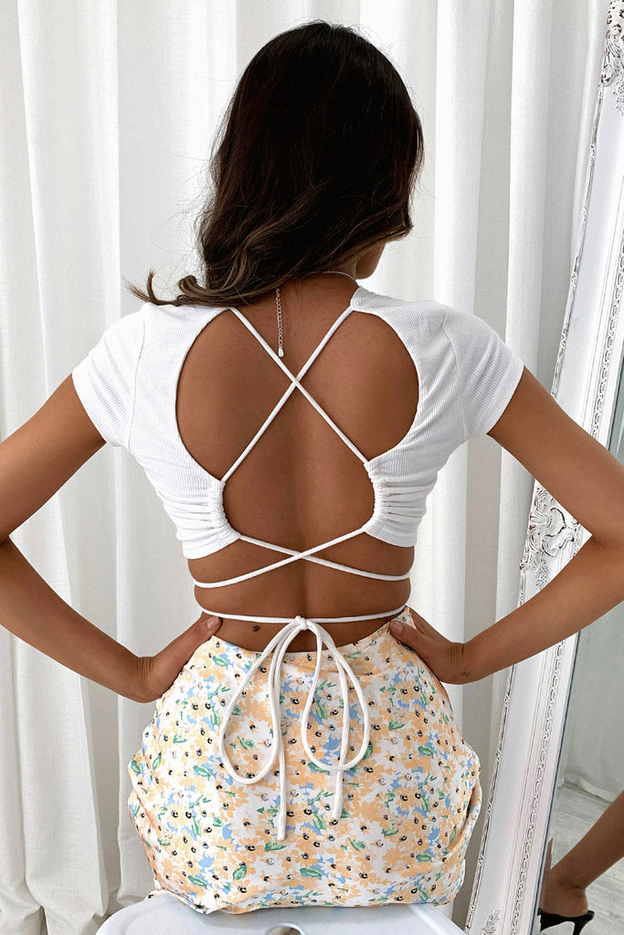 Lush Crop Top - White