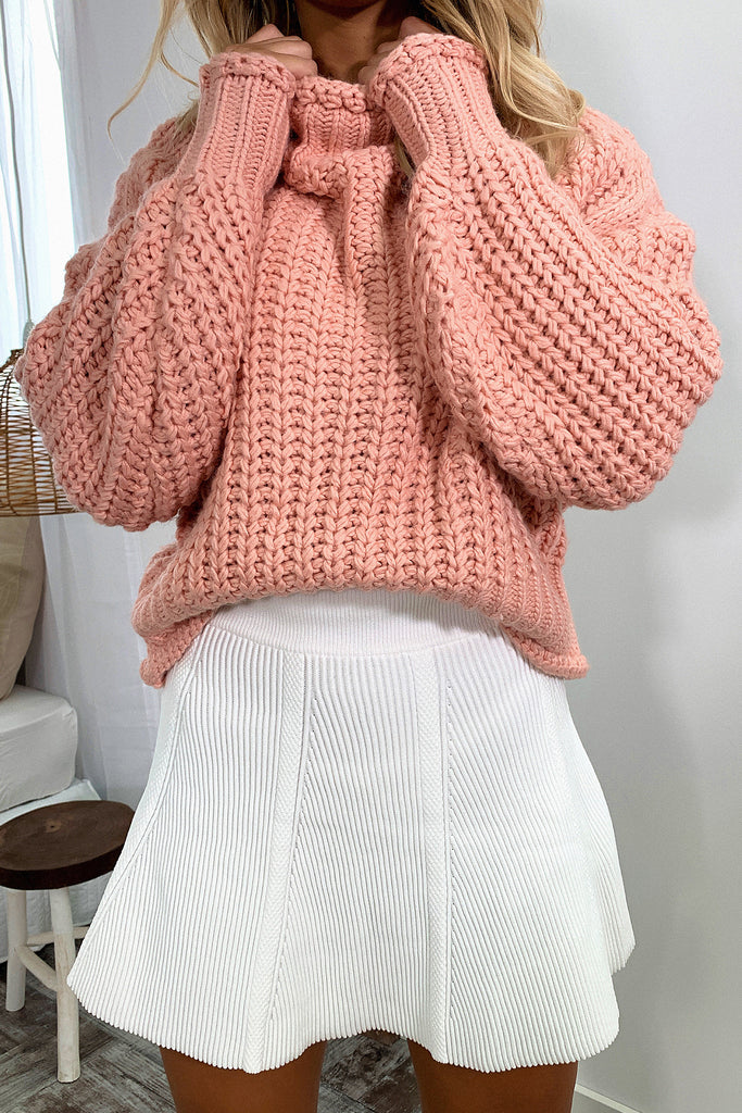 Rollie Knitted Skirt - White