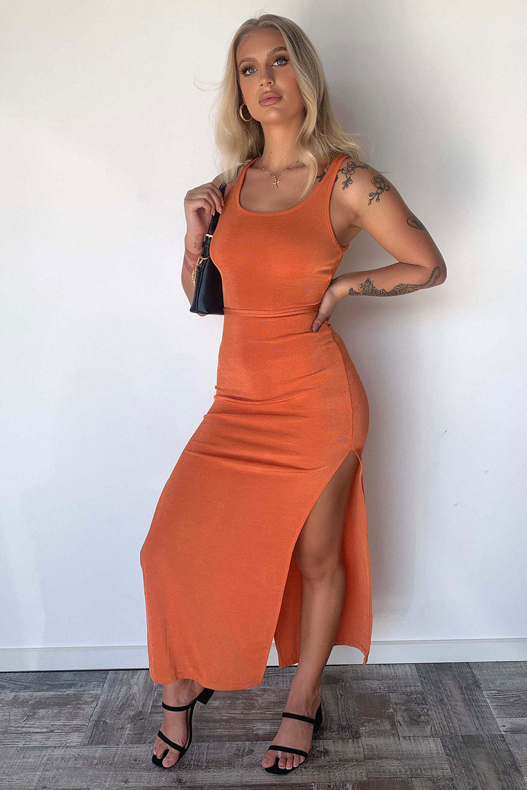 Lavina Maxi Dress - Orange