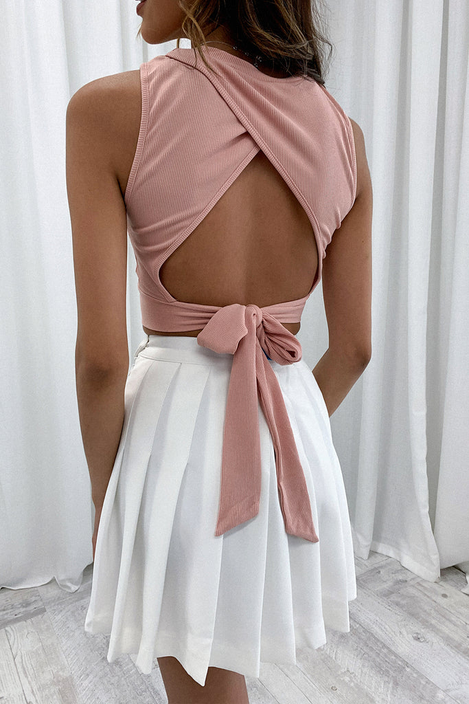 Lennon Crop - Blush