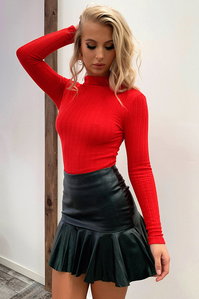 Layland Faux Leather Skirt