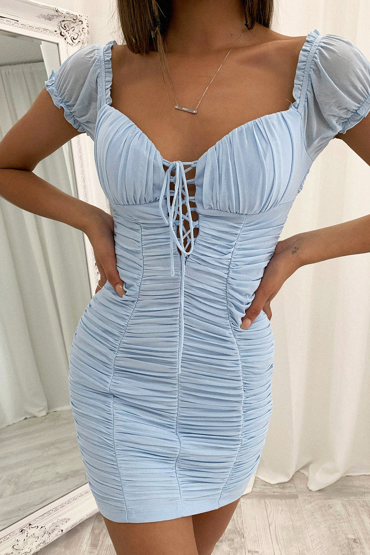 Meeta Dress - Light Blue