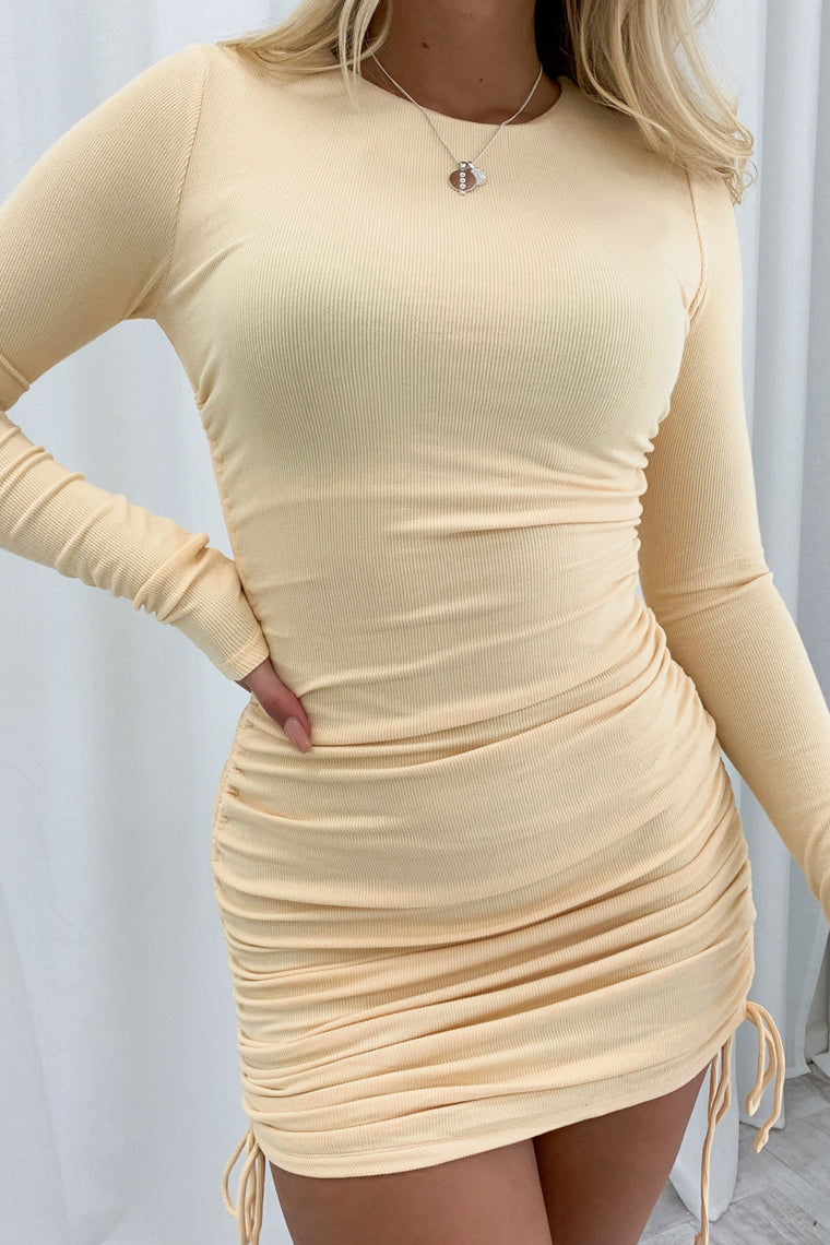 Miller Long Sleeve Dress - Honey Comb