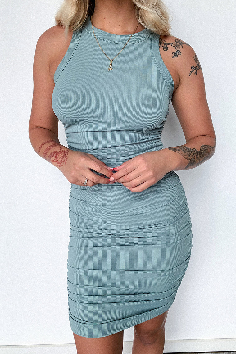 Mishka Dress - Sage