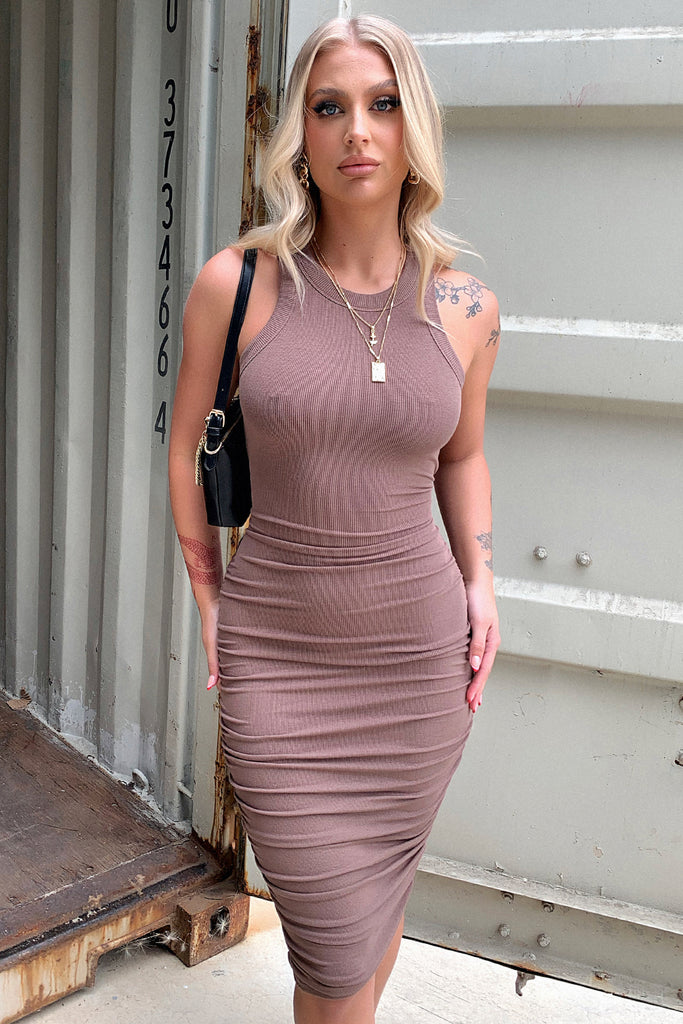 Rhianna Dress - Brown