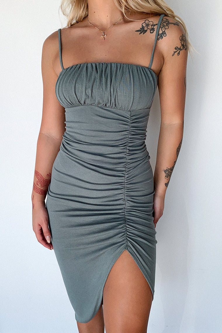 Sharna Dress - Khaki