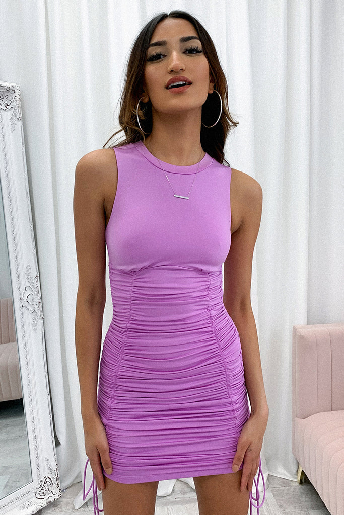 Starburst Dress - Purple