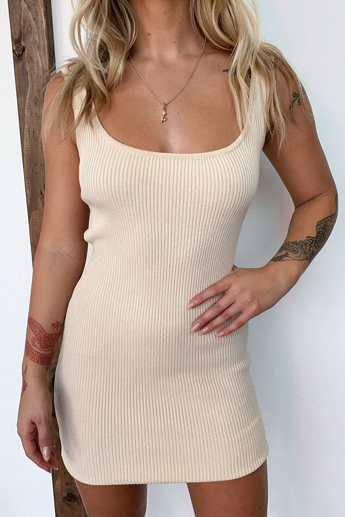 Tasha Dress - Beige
