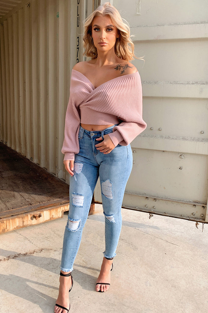 Blane Knit - Dusty Pink