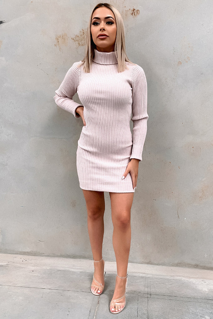 Charlotte Knitted Dress - Blush