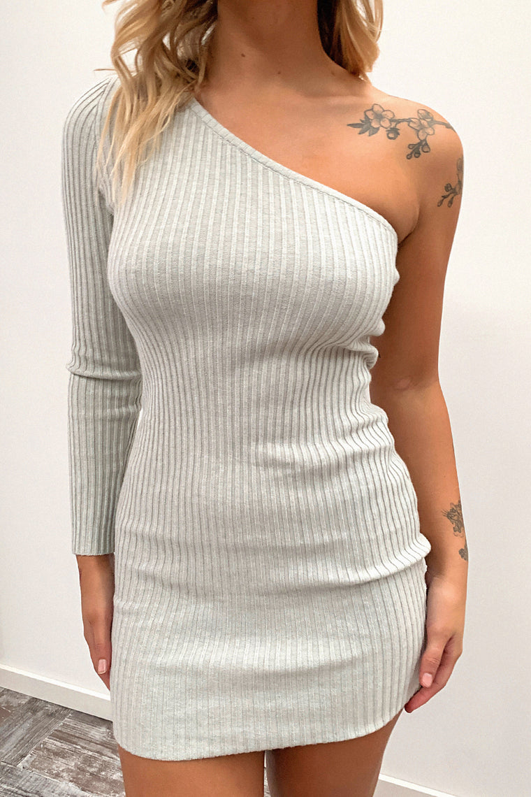 Nakita Knitted Dress - Grey