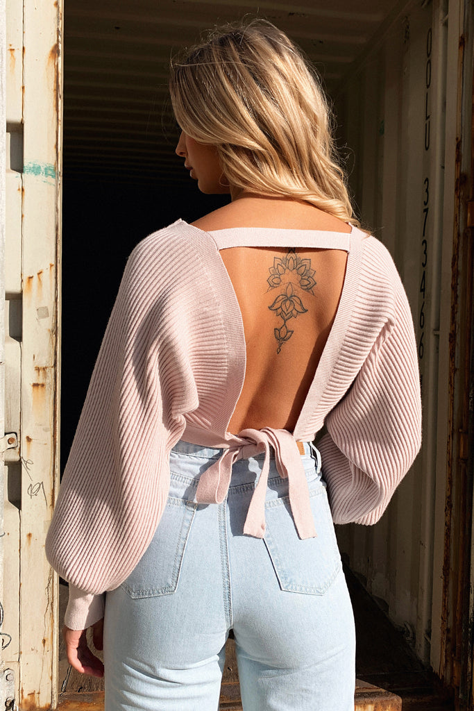 Glamour Long Sleeve Knit - Blush