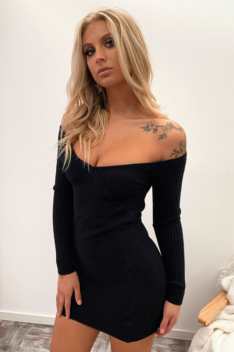 Julia Knitted Dress - Black