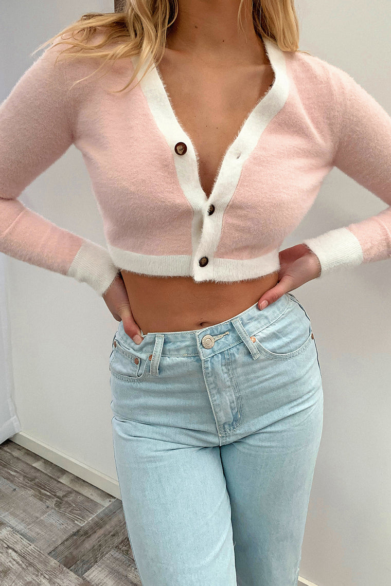 Mawi Knitted Crop - Pink