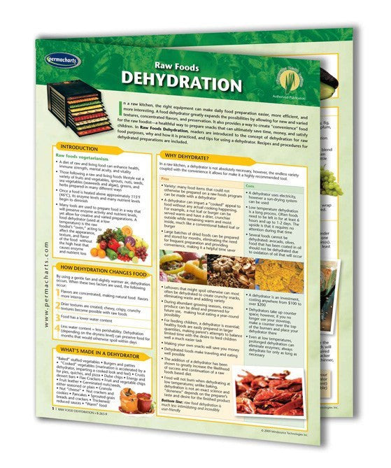 Raw Food Dehydration guide