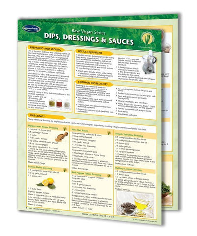 Dips, Dressings & Sauces - Vegan Food Quick Reference Guide