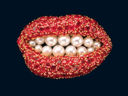 Schiaparelli Teeth Brooch