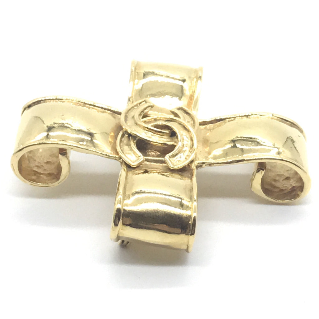 vintage chanel maltese cross pin