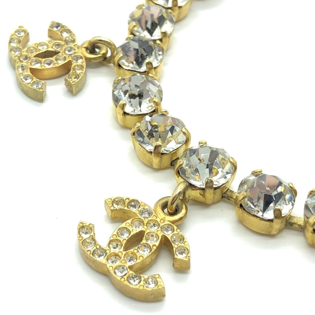 chanel crystal bracelet with rhinestone CC charms