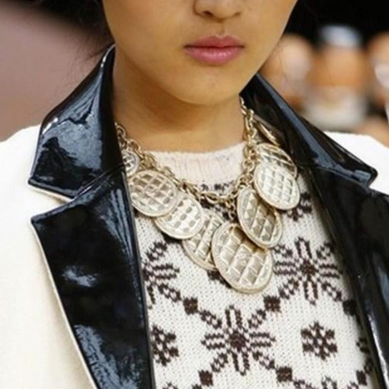 chanel large quilted charms necklace pic from Catwalk Couture