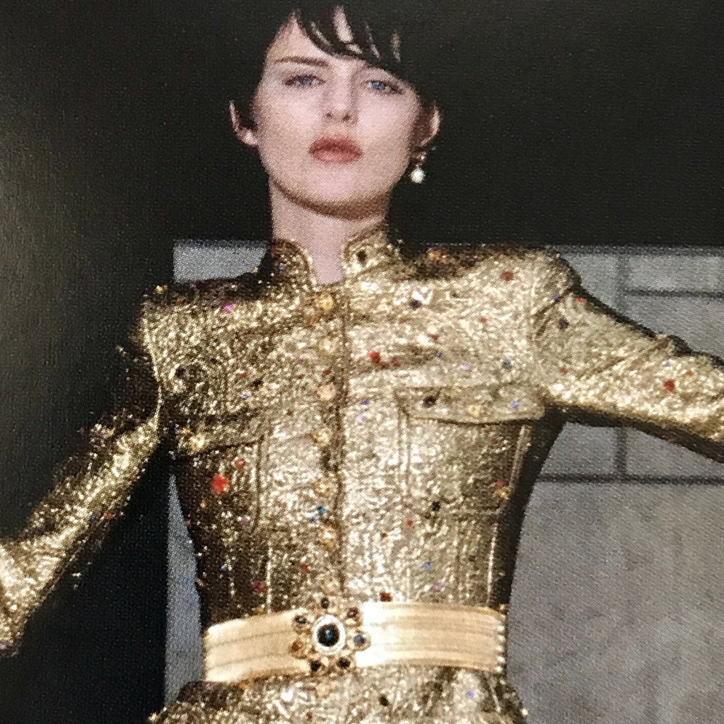 Chanel 1996 campaign belt with gripoix clasp