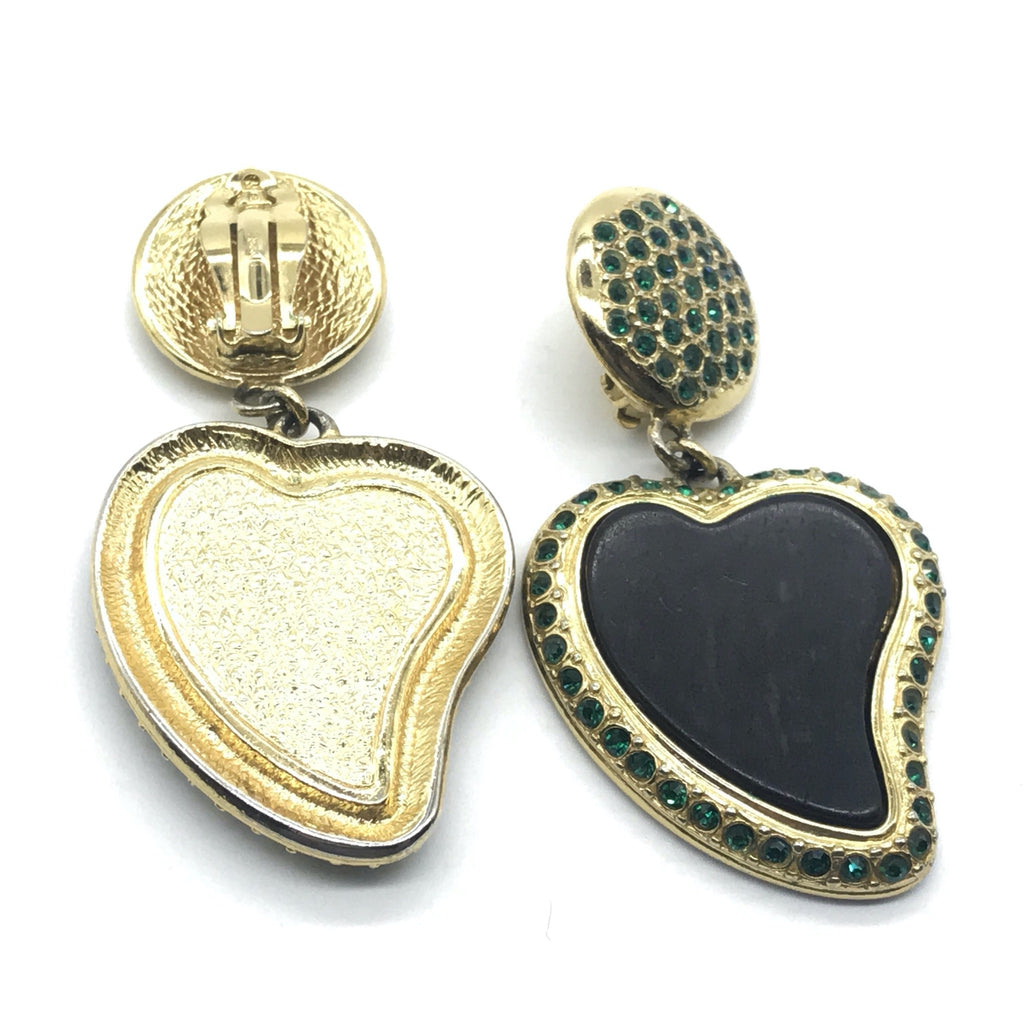 YSL Yves Saint Laurent Heart Charm Earrings