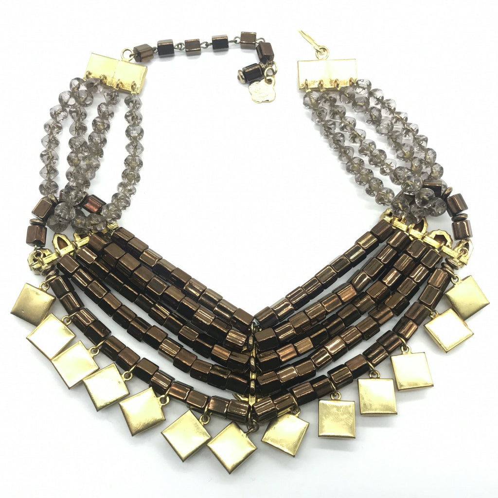 YSL Yves Saint Laurent Tubular Beads Necklace