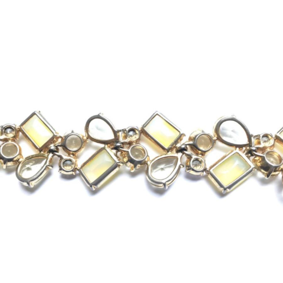 Schiaparelli Bracelet Set in Shades of Lemon