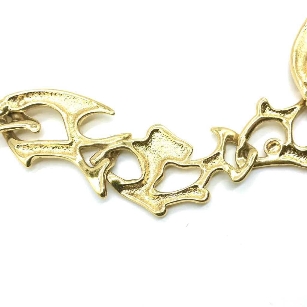 Vintage YSL Yves Saint Laurent Fish Necklace