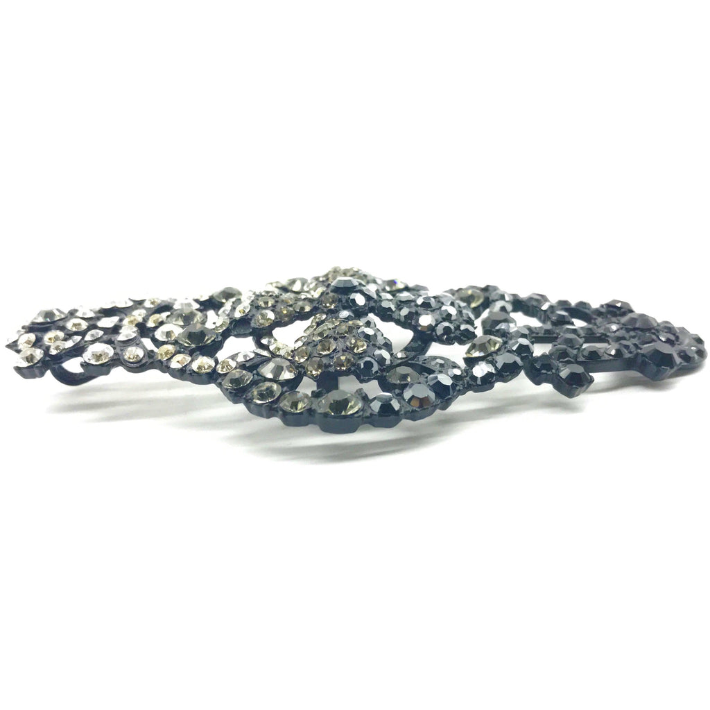 lacroix black crystal brooch