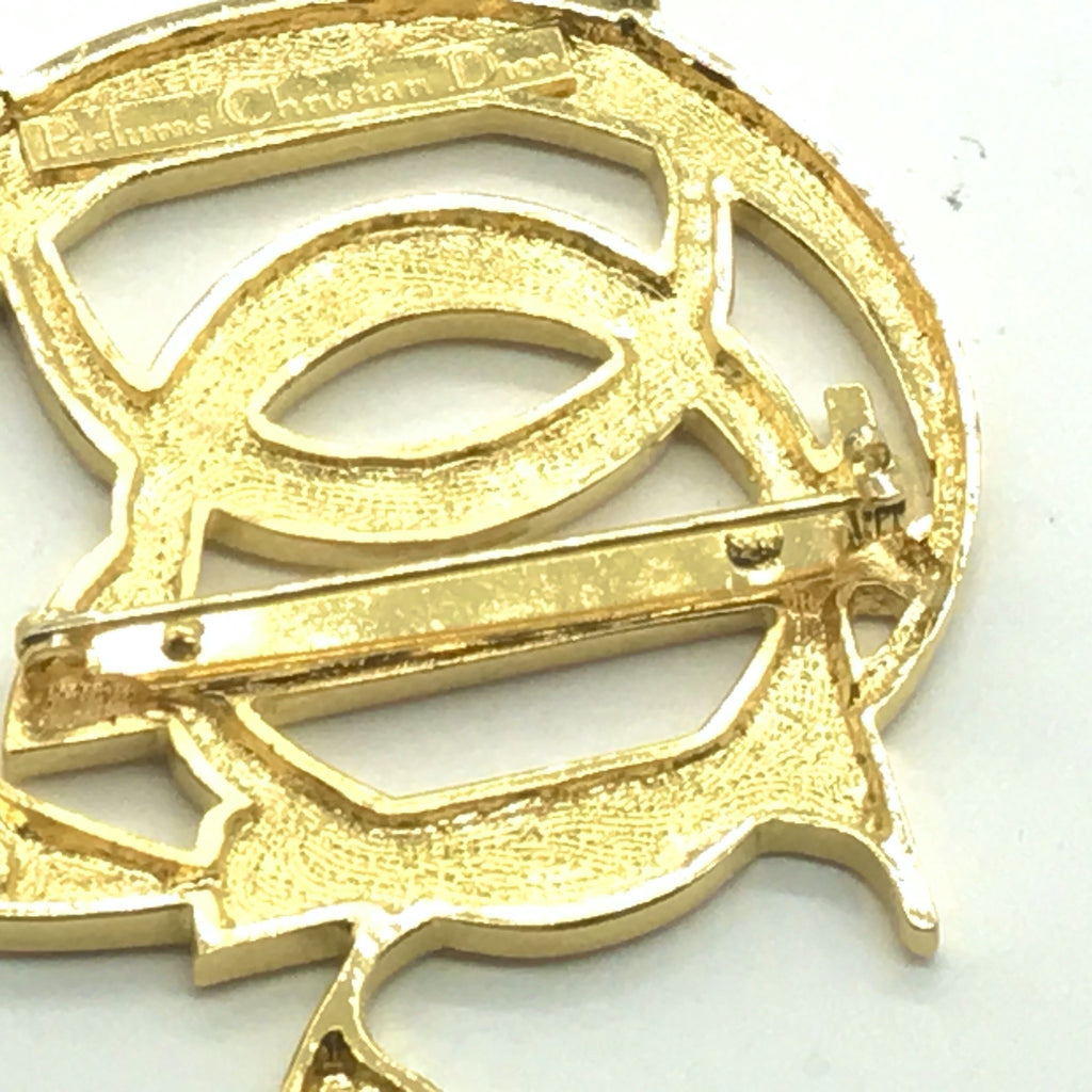 Vintage Christian Dior Logo Letters Brooch Pin