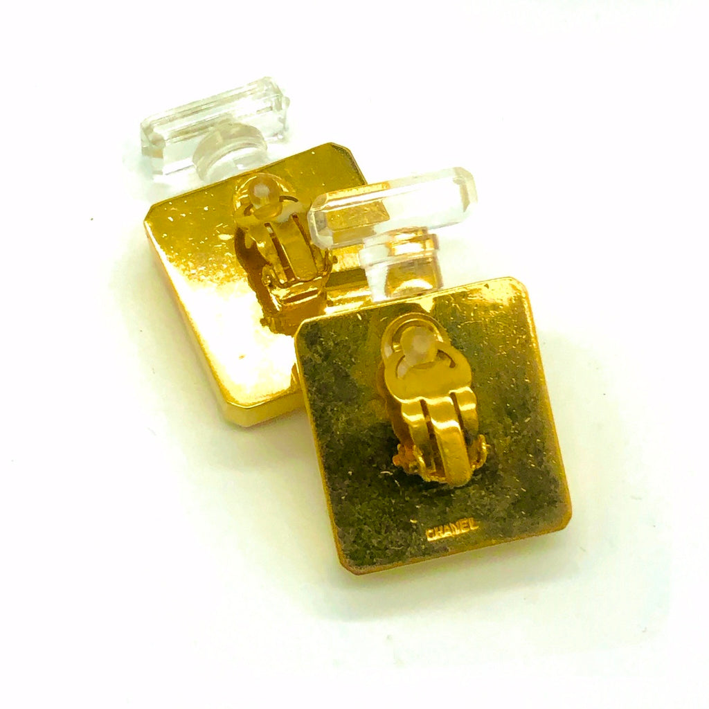 Vintage Chanel Perfume Bottle Earrings